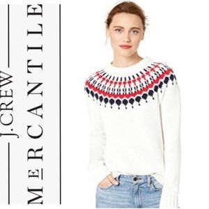 J. Crew Mercantile fair isle knit sweater